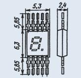 Индикатор знакосинтезирующий АЛС314А