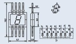 Индикатор знакосинтезирующий АЛС320Б