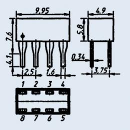Индикатор знакосинтезирующий АЛС362Д
