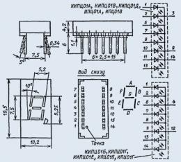 Индикатор знакосинтезирующий ИПЦ01Б-1/7К