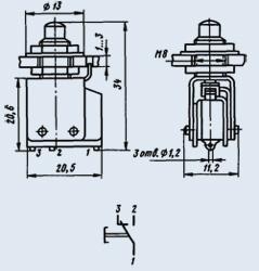 Кнопка КМ1-1В