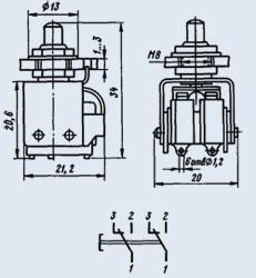 Кнопка КМД2-1