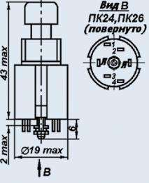 Кнопка ПК24-3В
