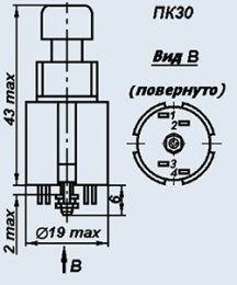 Кнопка ПК30-1В