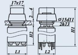 Кнопочный переключатель П2КНТ-1В