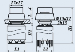 Кнопочный переключатель П2КНТА-3В