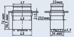 Кнопочный переключатель П2П1ТА-1БВ