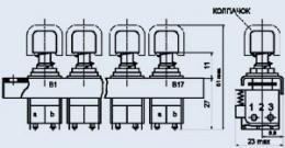 Кнопочный переключатель ПК1-10