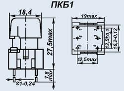 Кнопочный переключатель ПКБ1-2 син.