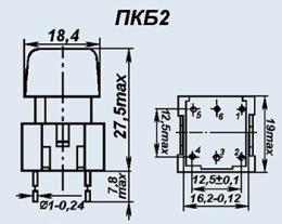 Кнопочный переключатель ПКБ2-8 бел.