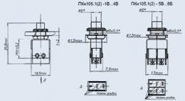 Кнопочный переключатель ПКН105.1-1В
