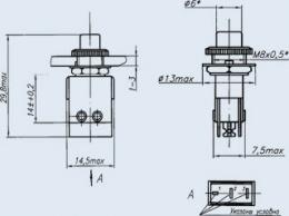 Кнопочный переключатель ПКН105-3В