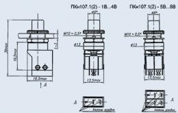 Кнопочный переключатель ПКН107-3В