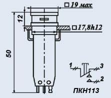 Кнопочный переключатель ПКН113-1жВ