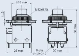 Кнопочный переключатель ПКН4-1В
