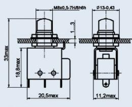 Кнопочный переключатель ПКН6-1