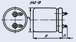 Конденсатор бумажный К42-19 10 мкф 500 в