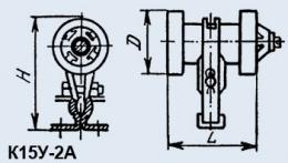 Buy Condenser ceramic high-voltage K15U-2A 1500 pf 20 kV 100 quar.