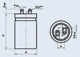 Конденсатор оксидно-электролитический К50-17 150 мкф 400 в