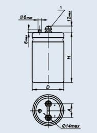 اکسید خازن الکترولیتی 50-18 2200 µF 100 در