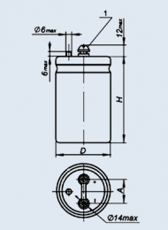 Конденсатор оксидно-электролитический К50-18 22000 мкф 50 в