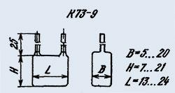 Конденсатор фольгированный К73-9 0.33 мкф 100 в