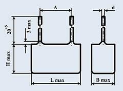Конденсатор фольгированный К78-2 6800 пф 1000 в