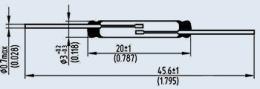 Контакт магнитоуправляемый КЭМ-2В гр.А
