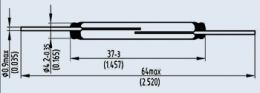Контакт магнитоуправляемый КЭМ-6 гр.Б