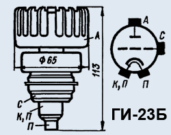 Лампа генераторная ГИ-23Б