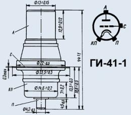 Лампа генераторная ГИ-41-1