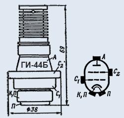 Лампа генераторная ГИ-44Б