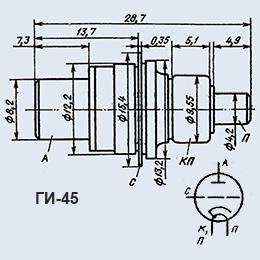 Лампа генераторная ГИ-45