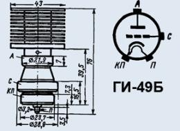 Лампа генераторная ГИ-49Б