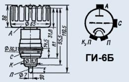 Лампа генераторная ГИ-6Б