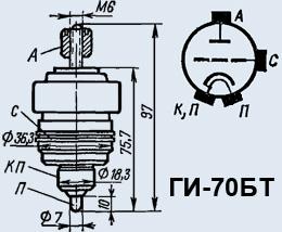 Лампа генераторная ГИ-70БТ