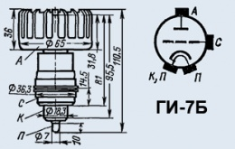 Лампа генераторная ГИ-7Б