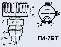 Лампа генераторная ГИ-7БТ