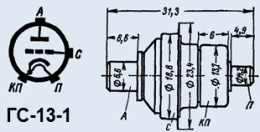 Лампа генераторная ГС-13-1