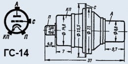 Лампа генераторная ГС-14