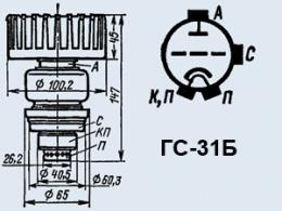 Лампа генераторная ГС-31Б