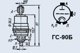 Лампа генераторная ГС-90Б