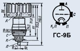 Лампа генераторная ГС-9Б