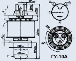 Лампа генераторная ГУ-10А