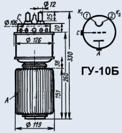 Лампа генераторная ГУ-10Б