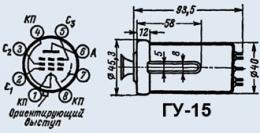 Лампа генераторная ГУ-15
