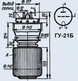 Лампа генераторная ГУ-21Б