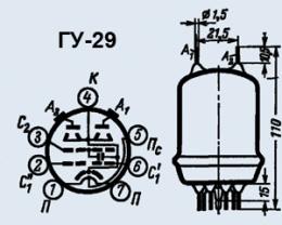 Лампа генераторная ГУ-29