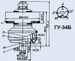 Лампа генераторная ГУ-34Б