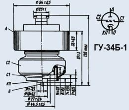 Лампа генераторная ГУ-34Б-1